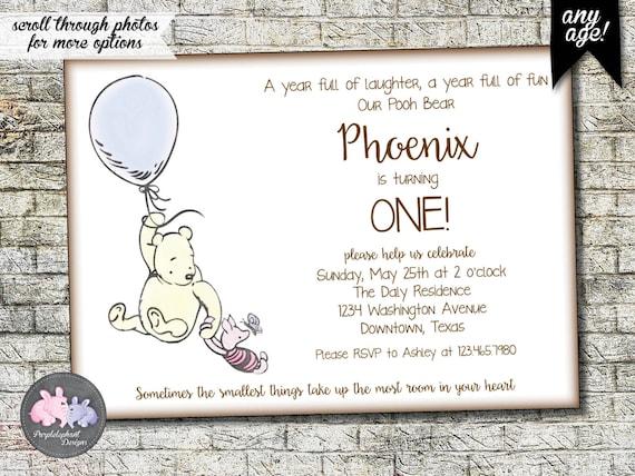 winnie the pooh birthday invitation pooh bear birthday