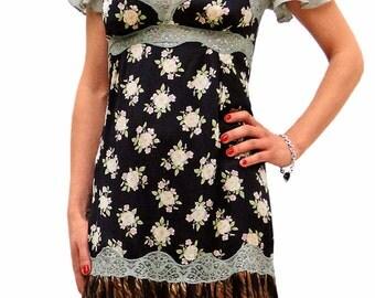 Dolce Gabbana flower animal print short dress
