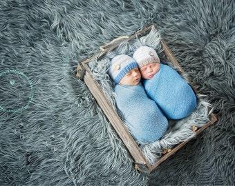twin boys photography prop hats, newborn twin prop, newborn photo prop, twin boy photo prop, twin prop, boys photo prop hat