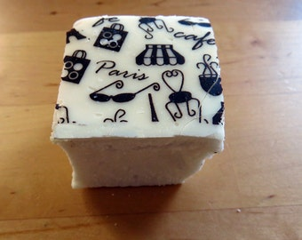 Paris cafe print Marshmallows  - 1 dozen Gourmet homemade - j'taime paris france