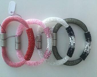 Shambala Mesh Bracelet with floating crystals!
