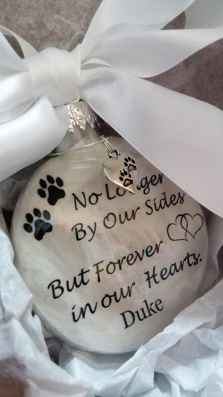 In memory of ornaments - In Memory Pet Memorial Ornament W Pwprint Charm Dog Cat Memorial Gift Forever