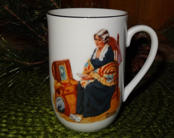 Set of 5 Norman Rockwell Mugs / Norman Rockwell Collectibles / Norman Rockwell