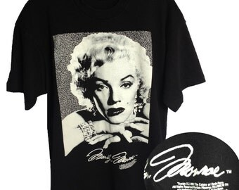 1992  The Estate of MARYLIN MONROE Graphic T-Shirt Trademarked Memorabilia, Size Extra Large