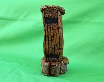 Outhouse, Wood Outhouse, Carved Outhouse, Cottonwood Bark Outhouse, Fairy House, Gnome House,