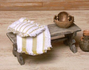 Shabby Chic Miniature Garden Bench for Your Dollhouse