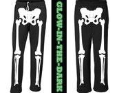 Skeleton Halloween Costume Sweat Pants - Glow in the Dark
