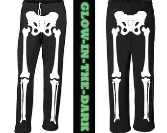 Glow in the Dark Skeleton Halloween Costume Sweat Pants