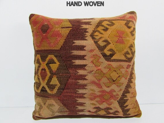 Kilim Rug Throw Pillows : 20x20 kilim pillow 20x20 kilim rug pillow by DECOLICKILIMPILLOWS