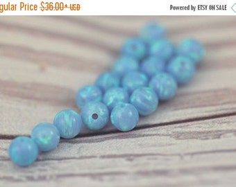 6MM Opal Beads / Loose Beads / Loose Opal / Round Beads / Opal Ball / Blue Fire Opal / Half Drilled Beads / Gemstone Beads / Jewelry Making