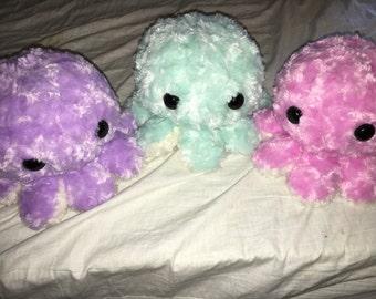 Large Fuzzy Squidlins - Pastel Colors -  pink, blue, purple