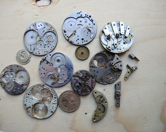 Antique pocket watch Brass parts / Featured / Steampunk supplies / Pocket Watch Movements / Antique Watch movements Steampunk supply Pw45