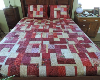 Gently Used Purple/Red Quilt