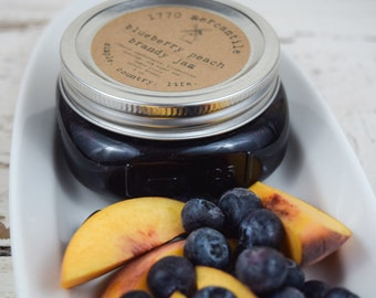 Organic Blueberry Peach Brandy Jam 8 oz
