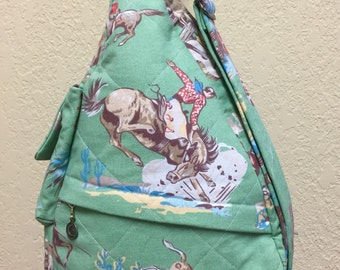 Vintage Green Cowboy Shoulder Bag