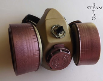Steampunk Cyberpunk Fallout Wasteland Functional Gas Mask , Steampunk Zombie Post-Apocalyptic Costume Mad Max mask