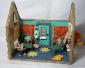 OOAK Miniature Beach House Diorama Dollhouse
