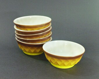 Fire King Bowls Kimberly Brown set of 6
