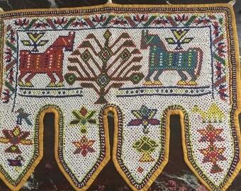 An Indian beaded Toran,temple door tapestry,circa 1930s