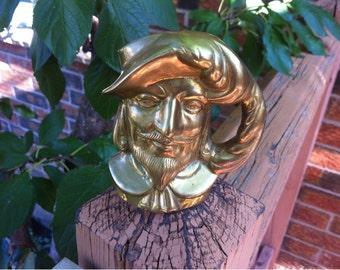 3. Solid Brass Pen Holder Man's Head Desk Organizer Desk accessories
