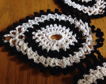 Small Black and White Doily