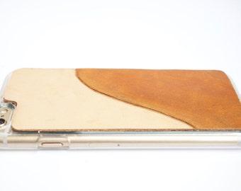 Leather iPhone 6s Plus Case / iPhone 6 Plus Case - Stylish Modern Wave