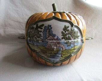 Meisleman Pottery Pumpkin Tureen