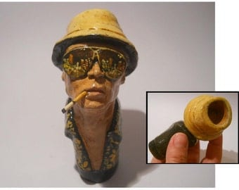 Fear and Loathing in Las Vegas - Raoul Duke -Hunter S. Thompson -ceramic