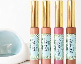 All natural lip glosses, vegan lip gloss, bath and beauty