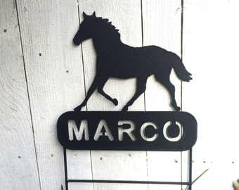 Horse Memorials, Pet Memorials, Pet Memorial, Horse Memorial, Metal Pet Memorials, Metal Horse Memorial, Grave Marker, Stable Name Plate,H4
