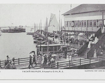 Yachting Pier, Atlantic City, NJ Photo Postcard, c. 1910