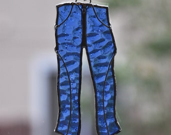Stained Glass Jeans - Blue Jeans - Blue Jeans Suncatcher