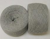SILVER HEATHER Silk Cashmere blend 3420 yards recycled yarn