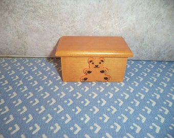 1:12 scale Dollhouse Miniature Teddy Bear toy Box