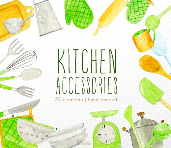 Kitchen Window Clip Art: Kitchen Clipart Watercolor Kitchen Watercolor Clipart