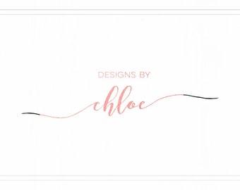 Rose Gold Logo Design, Handwritten Logo Design Branding, Signature Logo, Photography Logos and Watermarks, Design Logo Template, L106