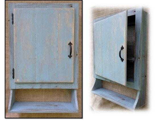 Reclaimed Wood Wall Hanging Cabinet Rustic Kitchen Bathroom