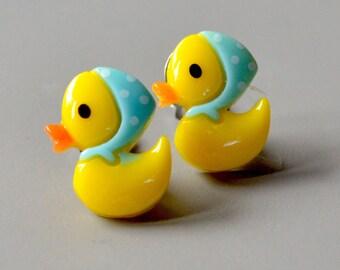 Earrings duck on clip