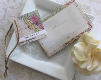 Map Place Cards World Map Place Cards Place Cards Travel Table Cards Destination Place Cards 50 Cards