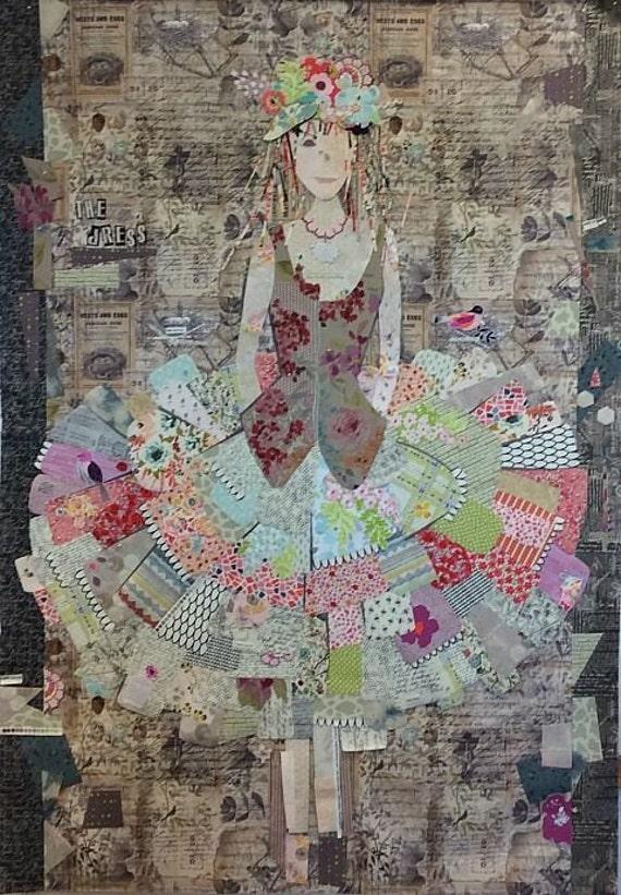 Fiberworks Laura Heine Collage The Dress Little Girl Quilt
