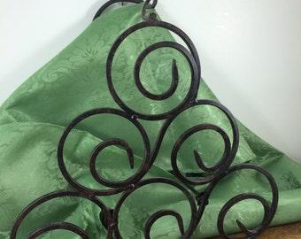 SALE! Wrought Iron Wine Rack *FREE SHIPPING* Metal Swirl Rack Towel Holder, Swirl Detail