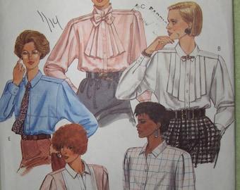 McCalls 2070 Vintage Women's Blouse pattern