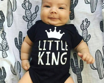 Little King Black Baby Onesie or T-shirt