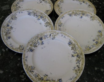 50% Off Antique Nippon Floral Plates (5) Crown stamp