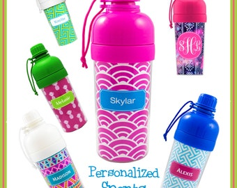 Personalized Sports Bottle - Monogram Water Bottle | Back to School | Personalized Water Bottle | Gifts for Kids