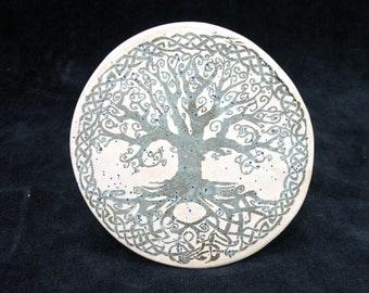 Set of 4 Stoneware Coasters , Tree of life