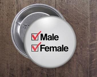 Genderqueer checkbox button