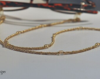 Glasses Chain, Gold Eyeglass Necklace, Eye wear, Glasses Necklace, Sunglasses Chain, Women's Eyeglass Chain, Eyeglass Necklace