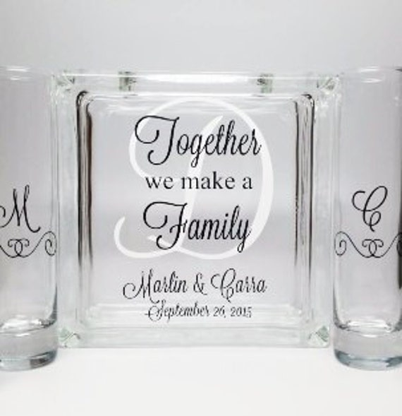 Blended Family Sand Ceremony Set Unity Candle Alternative