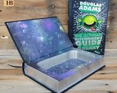 Hollow Book Safe - The Ultimate Hitchhiker's Guide to the Galaxy - Leather Bound